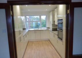 Sandbanks apartment refurbished kitchen
