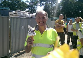 Sub-Contract project in Surrey.  Client shows appreciation for all our hard work by buying the entire team an ice cream on a very hot day.