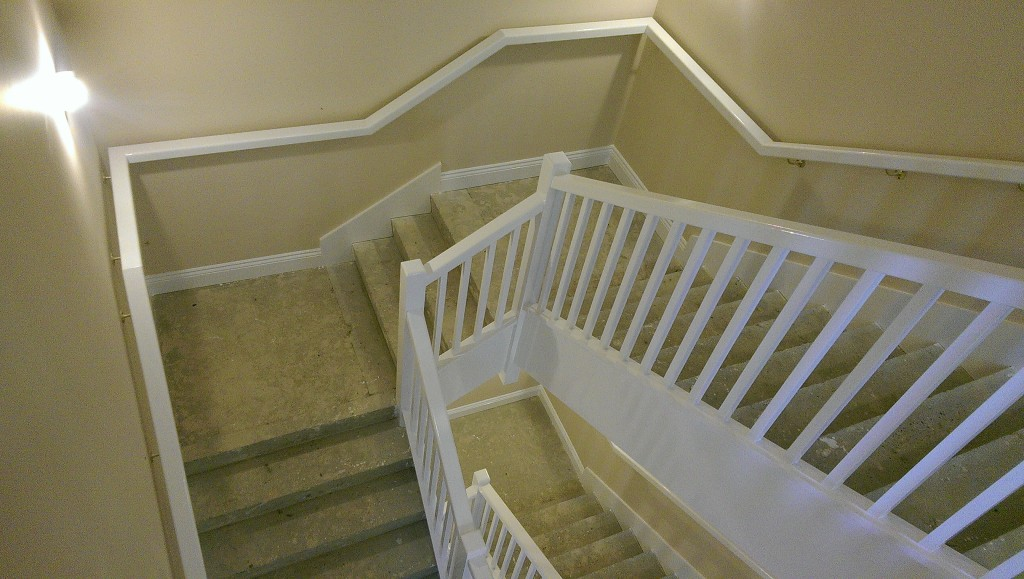 Dressing Concrete Staircase with Softwood Guarding