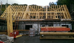 Fink truss roof
