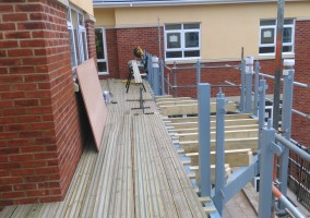 Decking at a new care home